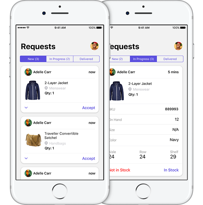 Requests in the Tulip Retail Runner App